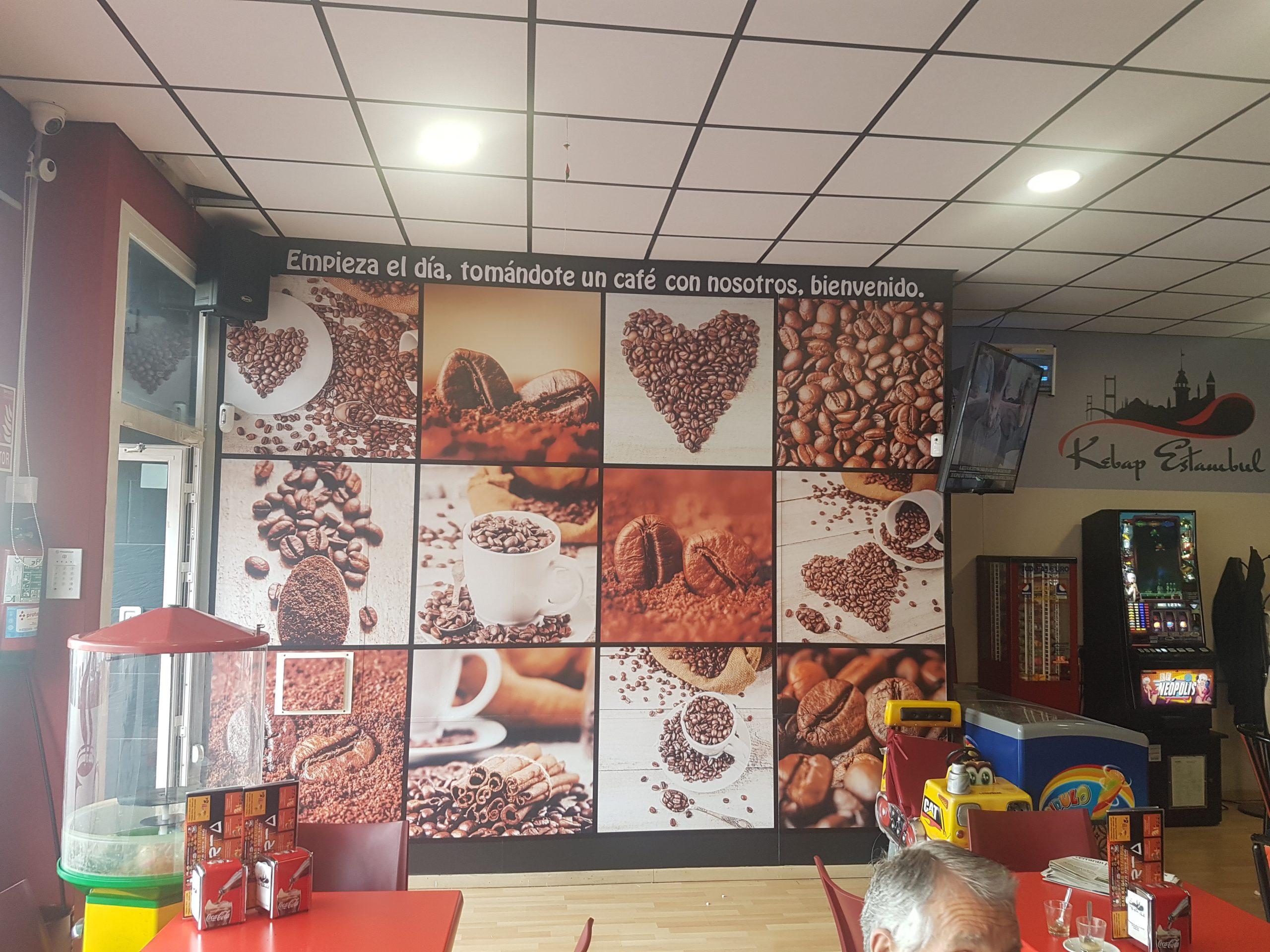 fotomural cafe